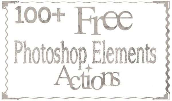 Vintage elements Photoshop Action free download