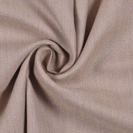 This is a light weight, very fine, beige blended worsted wool suiting. Has a subtle luster and chocolate pin stripe. Great for dressy occasions.