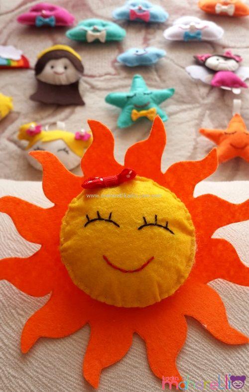 Güneş Figürlü Magnet