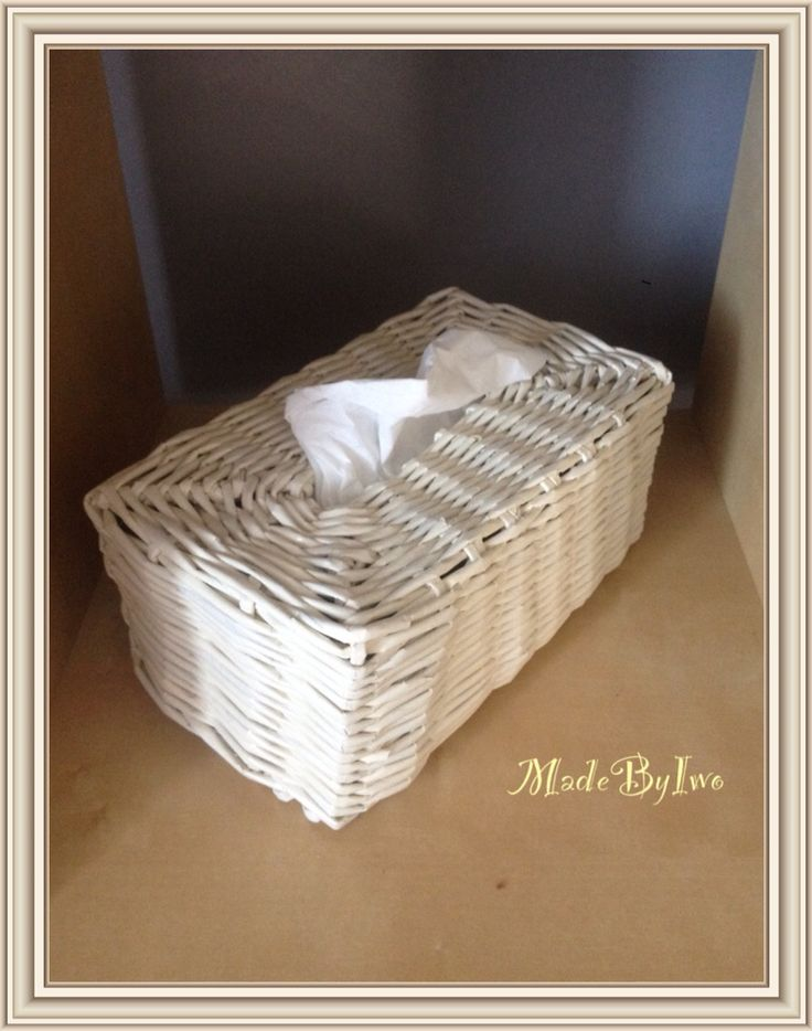 Tissue box @ made from paper rolls