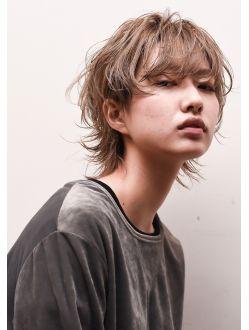 【snob rico.】マッシュウルフx透明感カラー&アーニュイカール