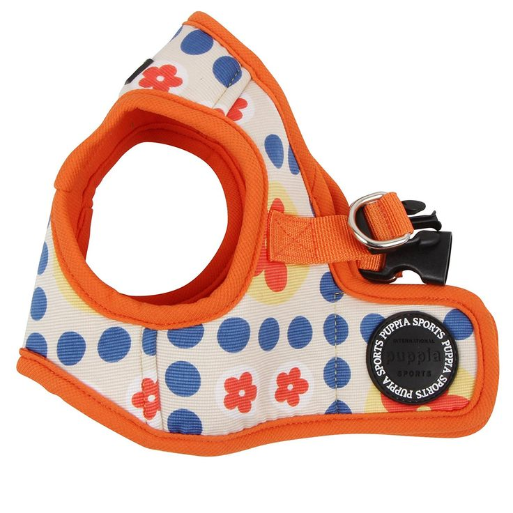 Puppia Authentic Blossom Vest Harness B, X-Small, Orange >>> Discover this special cat product, click the image : Cat accessories