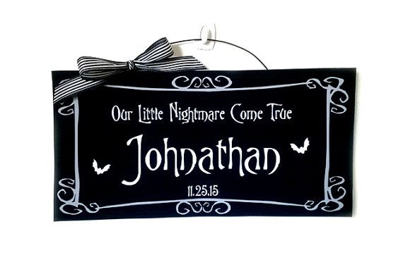 Hey, I found this really awesome Etsy listing at https://www.etsy.com/listing/231696863/nightmare-before-christmas-sign-custom
