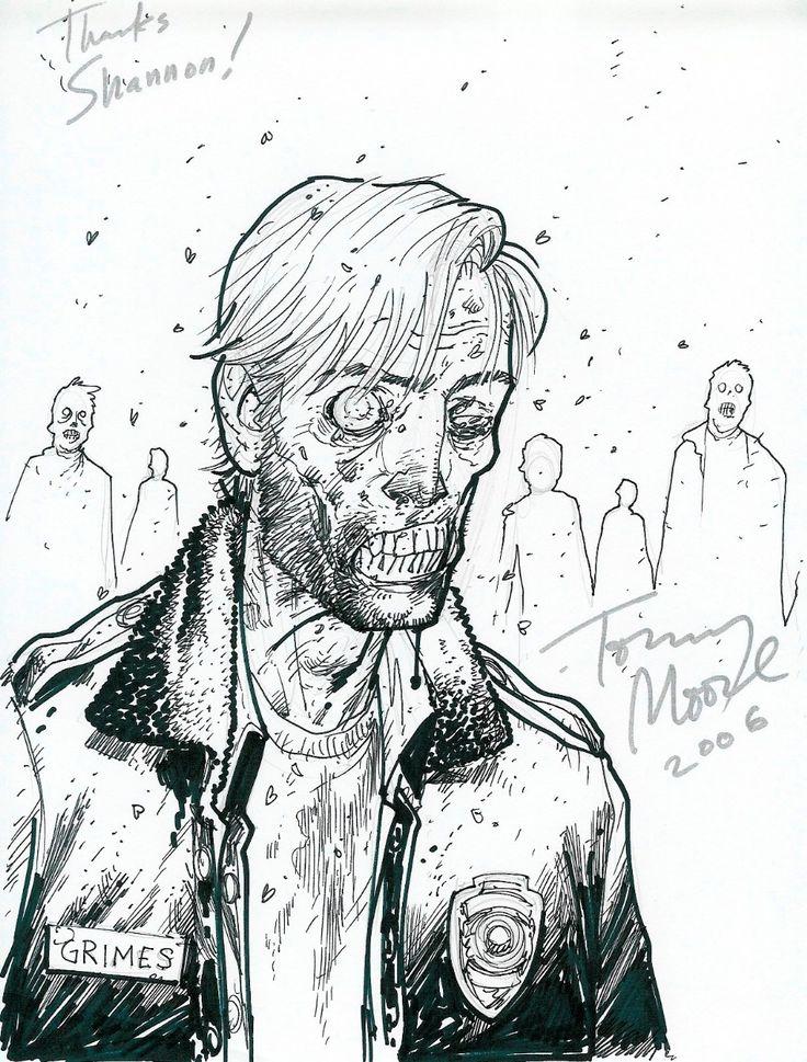Zombie Rick from Walking Dead by Tony Moore Comic Art