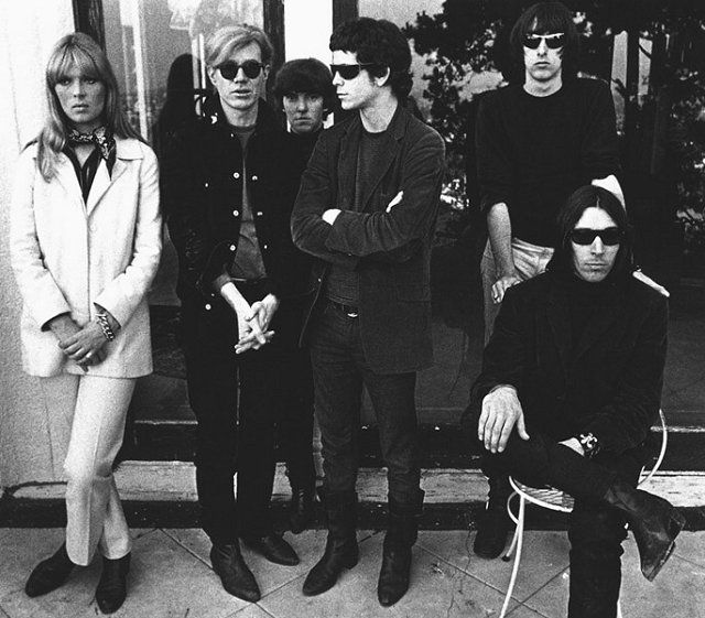 "Velvet Underground (pictured with Nico and Andy Warhol): the ones that started it all. ""The first Velvet Underground album only sold 10,000 copies, but everyone who bought it formed a band."" - Brian Eno"