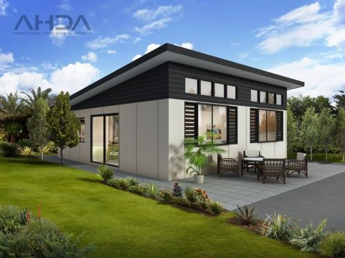 Single storey Modern Granny Flat by Architectural House Designs Australia ~ Great pin! For Oahu architectural design visit http://ownerbuiltdesign.com