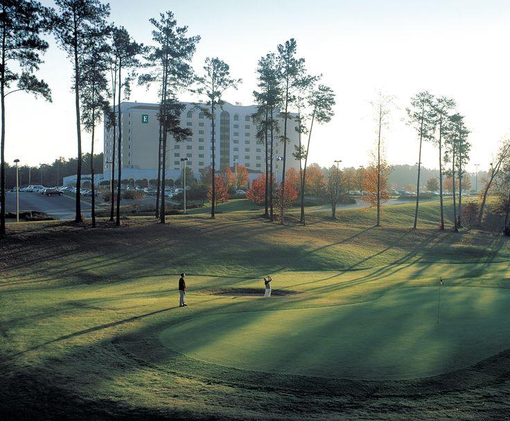 Embassy Suites Golf Resort & Conference Center, Greenville, SC  Booking link:   http://embassysuites3.hilton.com/en/hotels/south-carolina/embassy-suites-greenville-golf-resort-and-conference-center-GSPESES/index.html