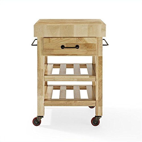 special offers crosley marston butcher block kitchen cart natural in stock u0026 free shipping
