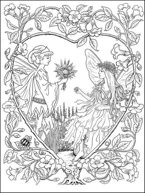 Coloring Page Märchen Pinterest Ausmalen Malvorlagen Und Feen