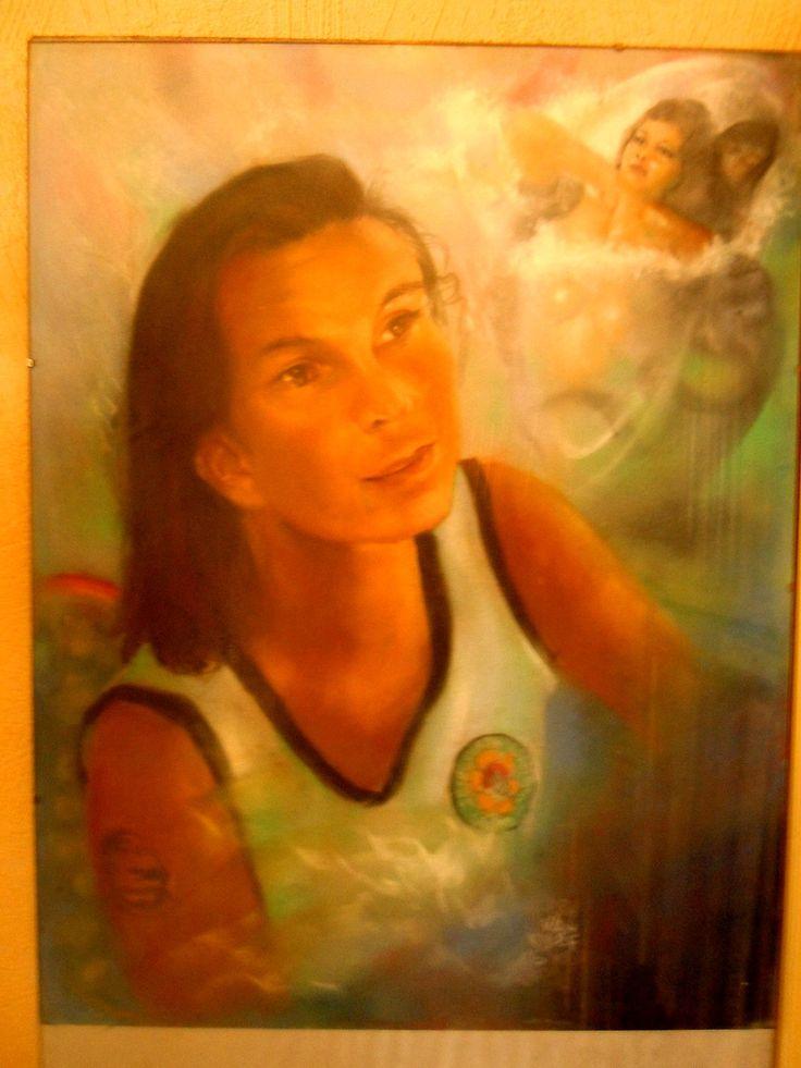 Portrait of Ratu Kidul Artist 'Roy James Döhne' made by Indo Artist: Harry van Kleef.