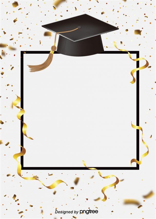 Creative Ribbon Graduation Cap Happy Background In 2020 Graduation Poster Graduation Wallpaper Graduation Cap