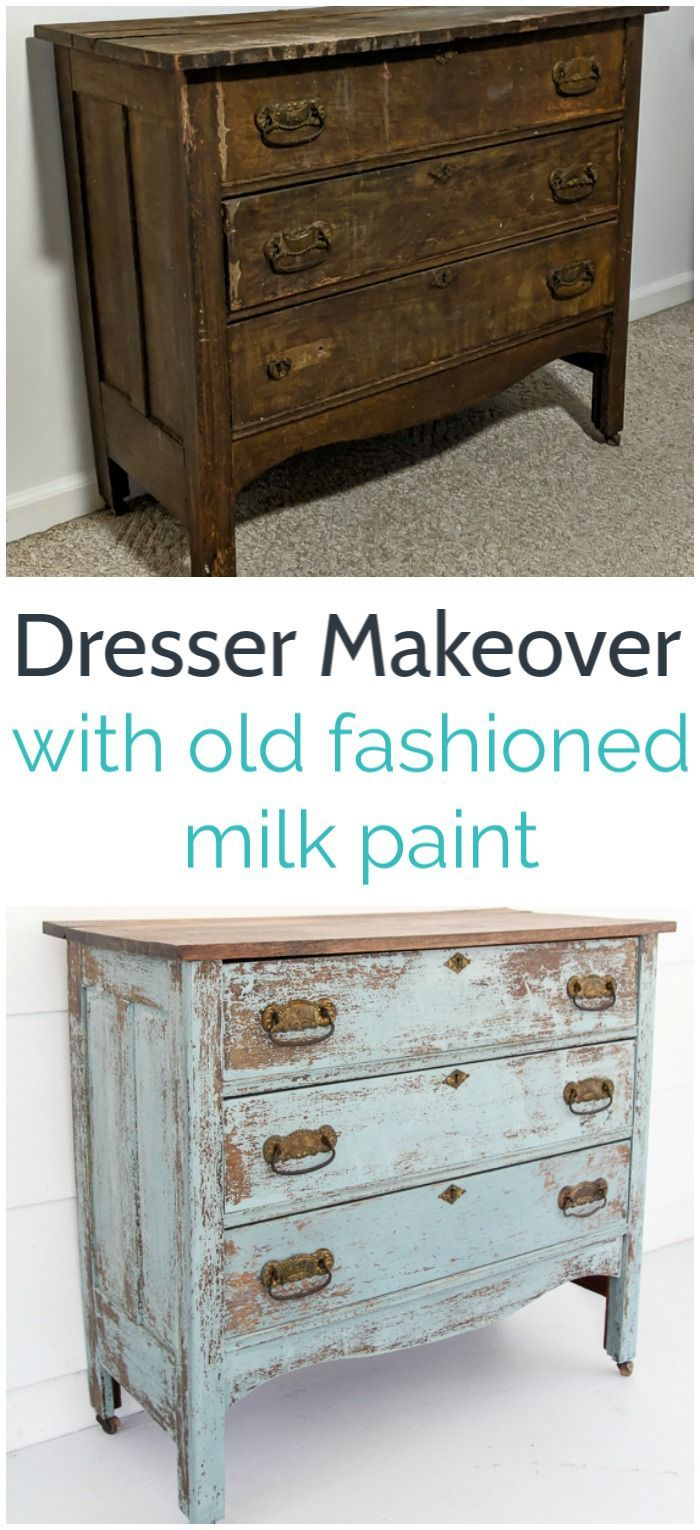 How to Paint a Chippy Farmhouse Dresser with Milk Paint