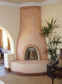 Kiva fireplaces adobe style fireplaces beehive or for Kiva fireplaces