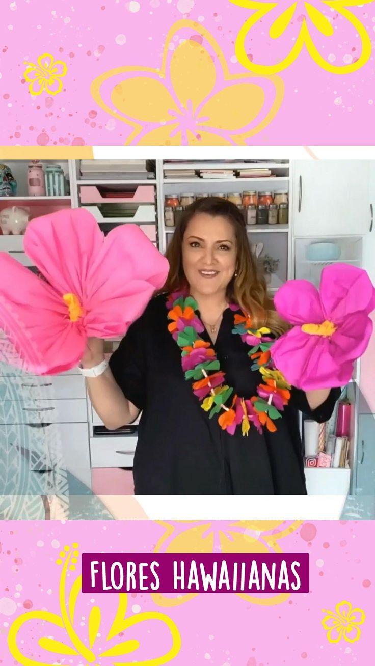 Diy Flowers, Paper Flowers, Hawaiian Flowers, Ideas Para Fiestas, Fiesta Party, Party Gifts, All Art, Holiday Parties, Fun Crafts