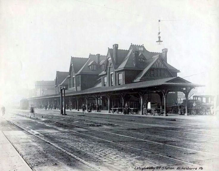 1913 Lehigh Valley Train Station Located At The Now Genettis Park Lot