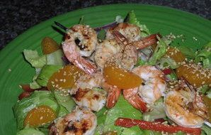 Prawn & Mandarin Salad Recipe - Recipezazz.com