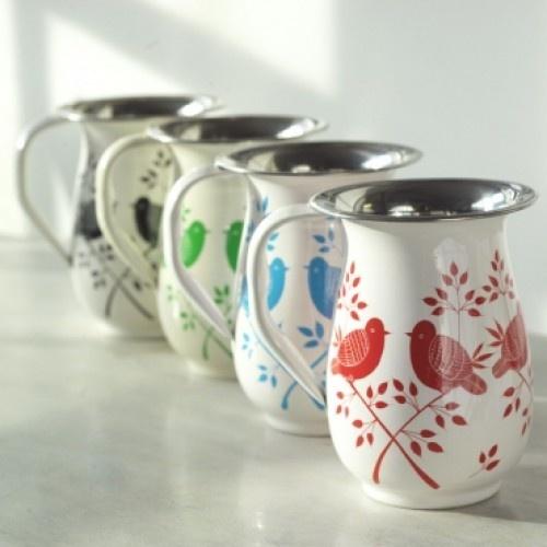 Greenheart fair trade hand painted Lolita Jugs - sustainable home decor