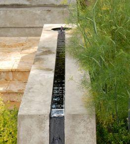 rill, water feature, concrete