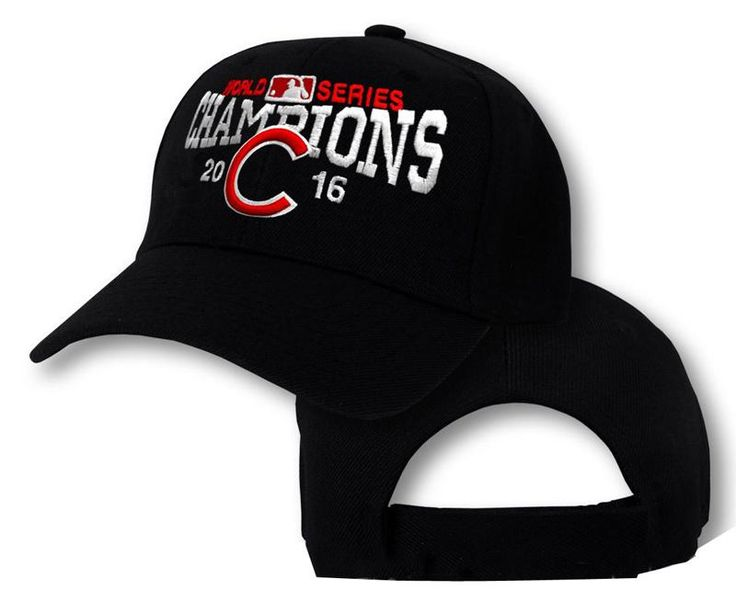 Men's / Women's Chicago Cubs New Era 2016 World Series Champions Adjustable Baseball Hat - Black