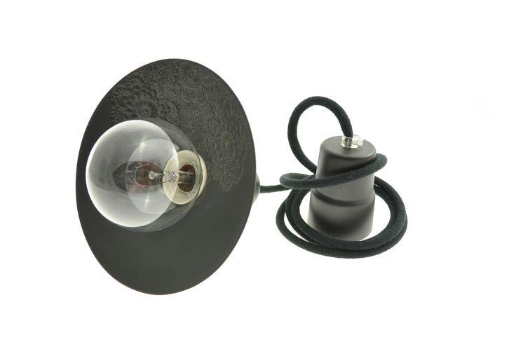 Ceramic lamps by Inżynieria Designu Loft with Folk - black.  100 % hande made