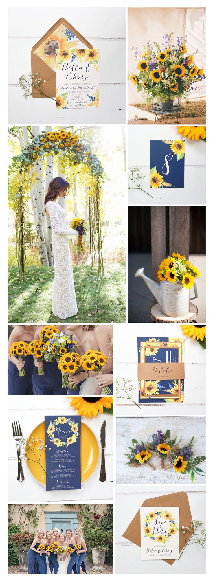 Wedding Day Program Sunflower wedding, Wedding colors