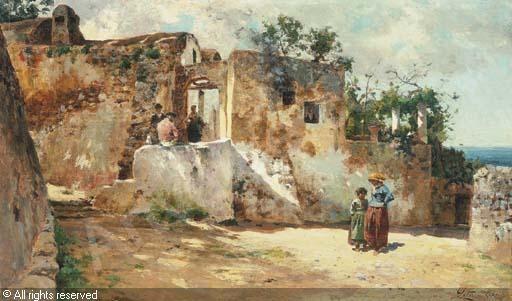 LETO Antonino,Vue de Capri,Christie's,Paris