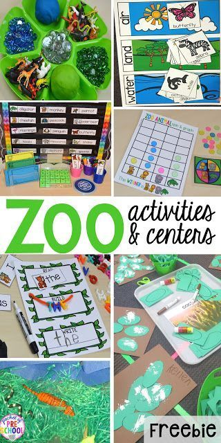 ZOO Theme! FREE desert art pattern plus all my go to ZOO themed activities (math, literacy, fine motor, science, sensory) for preschool, pre-k, and kindergarten