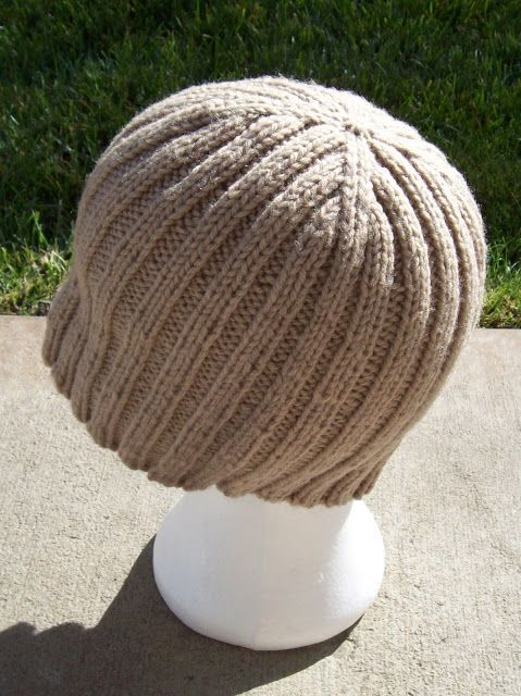 Just Knitting : Ribbed Hat Free Pattern
