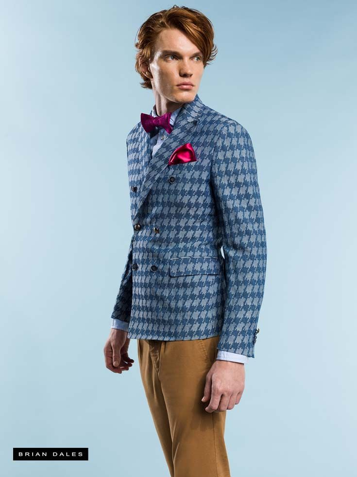 #BRIANDALES #MAN #COLLECTION #SS2016, 5 pants pockets, double-breasted jacket and bow tie.
