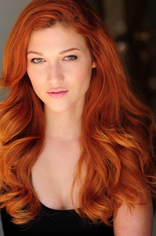 Thin natural redhead