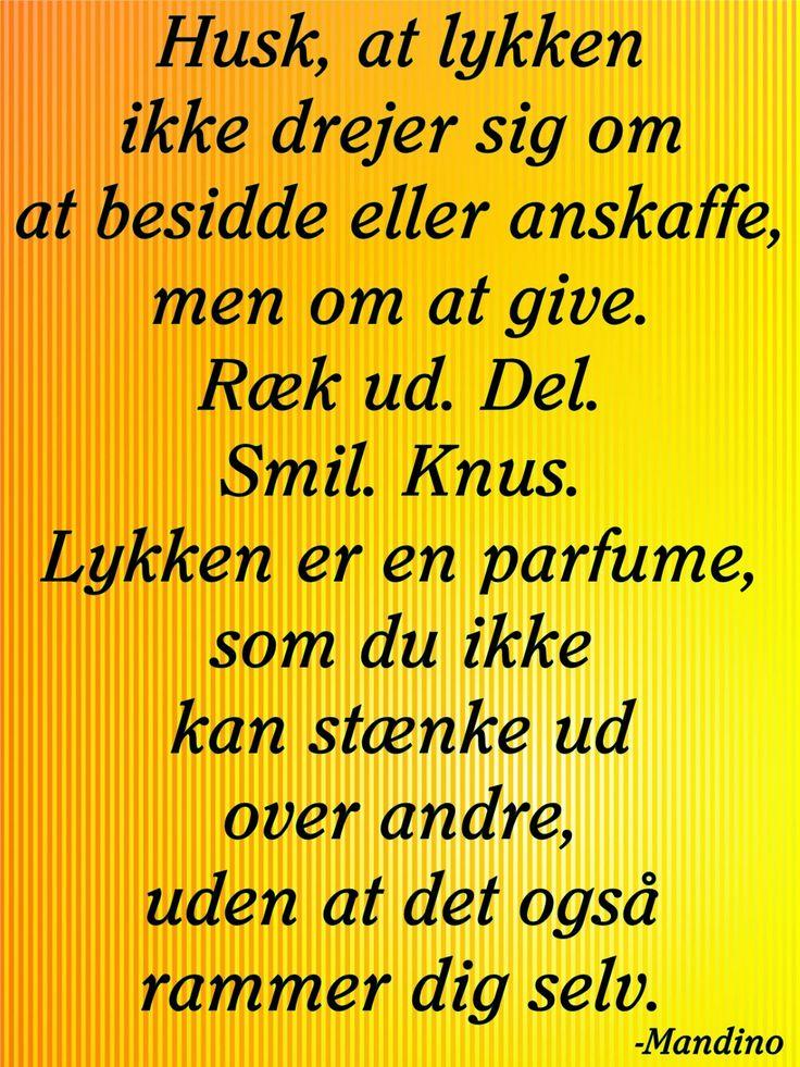 citat,dansk,lykke,gavmildhed,