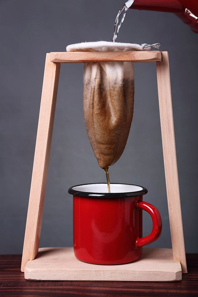 (For right now) Through reusable filters coffee drinkers can reduce waste. Coffee Sock: Old-School Filters that Save the Planet.