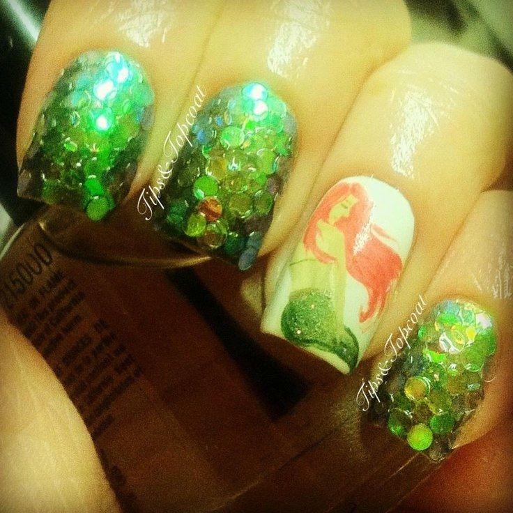 39 best Mermaid nail art images on Pinterest | Arte de uñas de ...