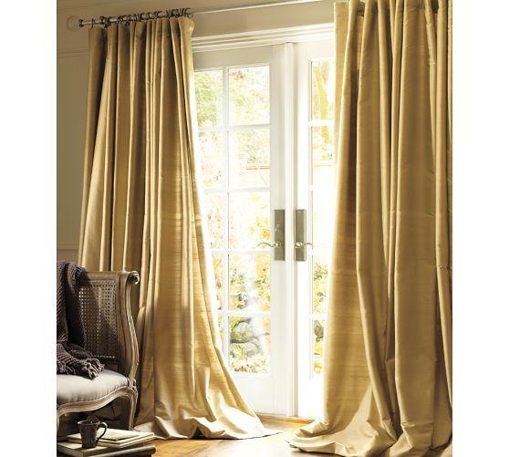 Dupioni Silk Pole Pocket Drape Brownstone Apartment Inspiration Pinterest Curtains D And
