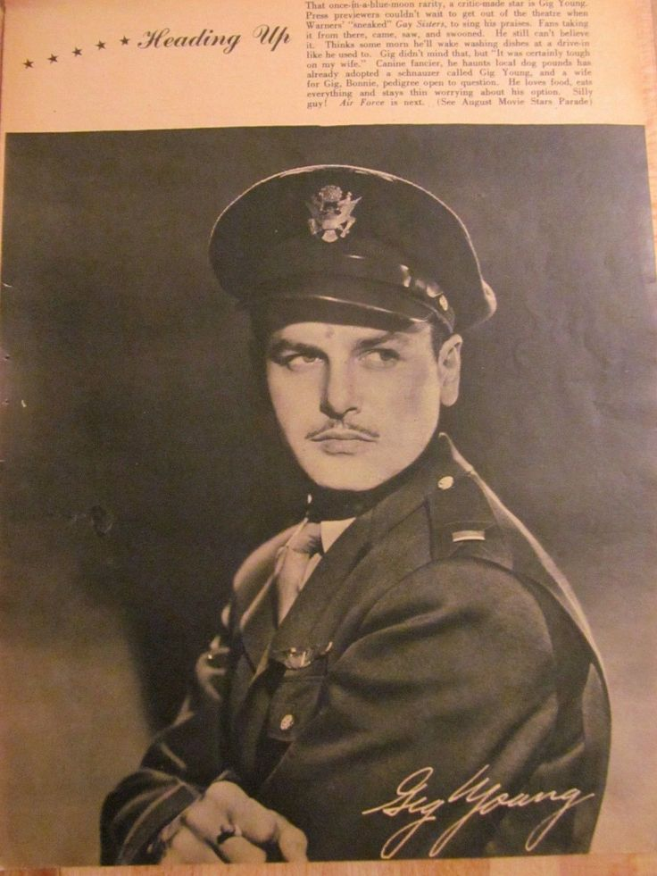 Double Full Page Vintage Pin up Gig Young