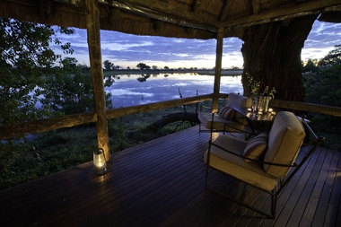 Savuti Camp, overlooking the channel!