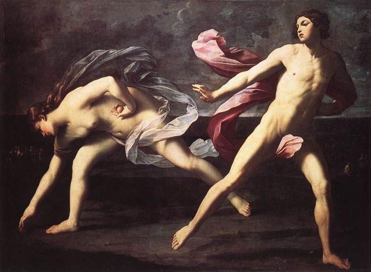 Un'opera di Guido Reni che si trova al Museo Nazionale di Capodimonte: Atalanta e Ippomene