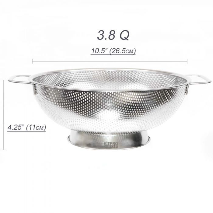 High Quality Stainless Steel With Small Holes Allows Food To Drain Quickly And Smaller Items Won T Go Through The Higher Le Base