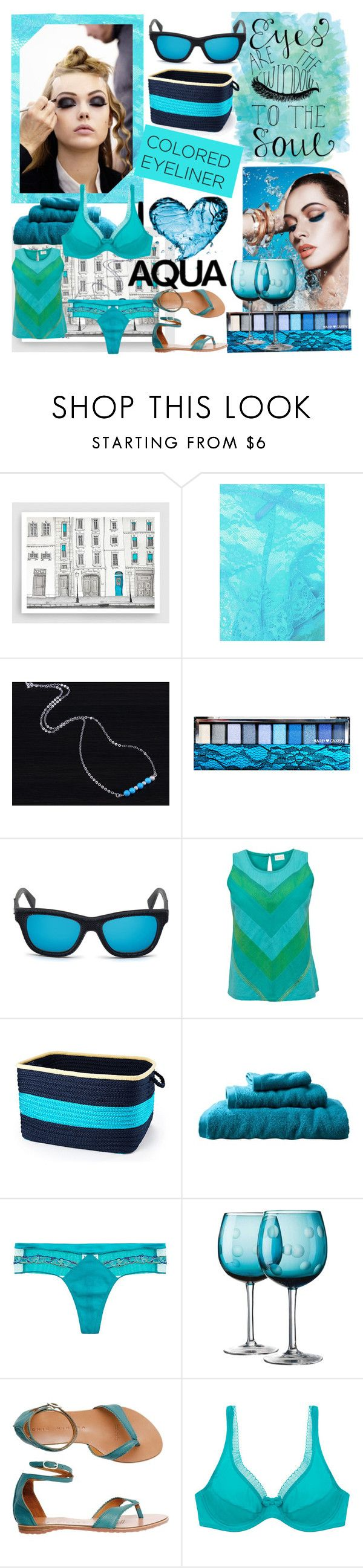 """""""Turquoise Eyeliner"""" by din-sesantadue ❤ liked on Polyvore featuring Topshop, MAKE UP FOR EVER, Hard Candy, Diesel, EAST, Colonial Mills, Room Essentials, La Perla, Home Essentials and Toast"""