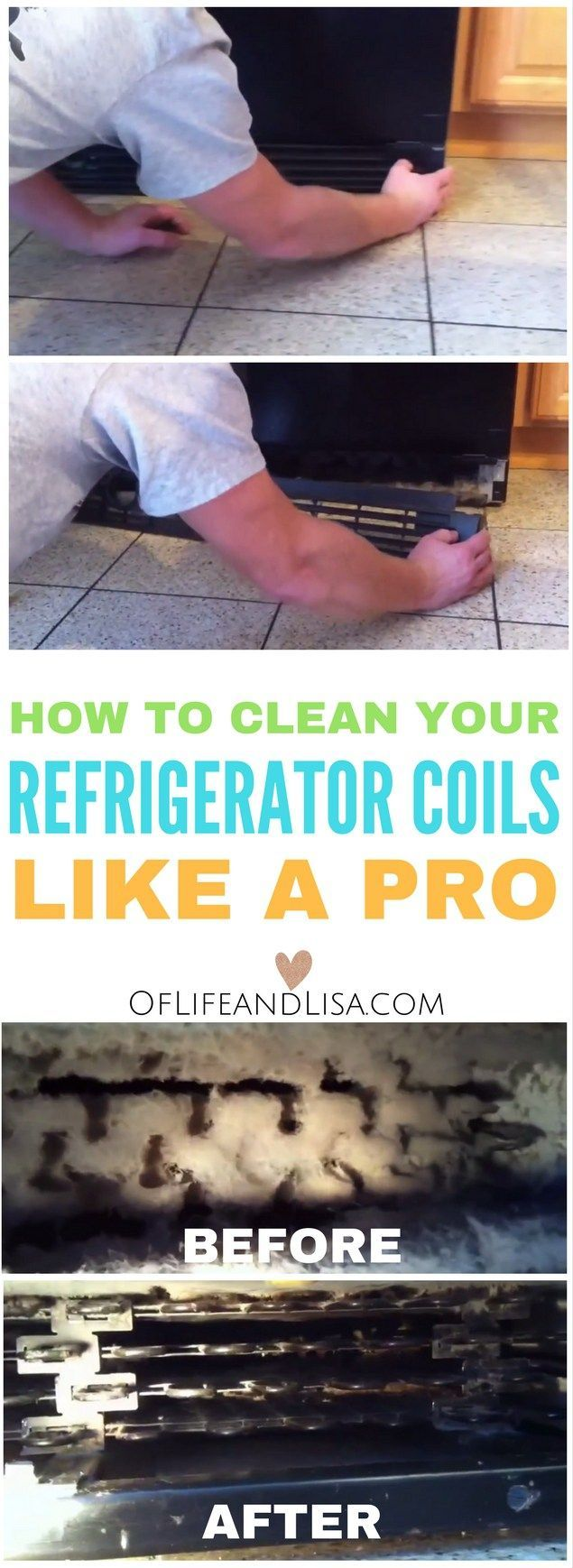 When was the last time that you actually cleaned your refrigerator coils?