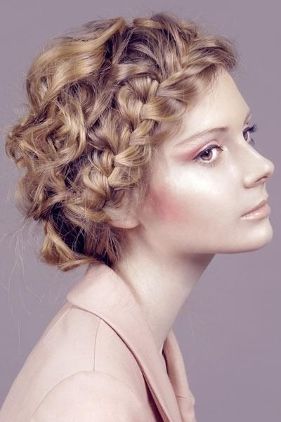 crown braid for curly hair