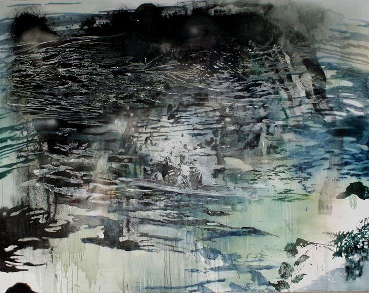"Miriam Valing, ""Companion"", 2015,  71 x 91 inches, Egg tempera on canvas, Website: http://www.miriamvlaming.com/works"