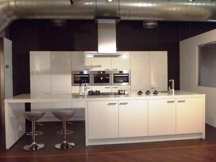 194 beste afbeeldingen over keukens op pinterest beton hout zwarte keukens en witte keukens - Woonkeuken american ...