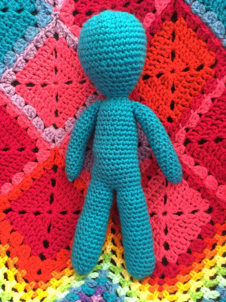 This is a dolls body. I could have dressed him up and given him hair, but I kinda fell in love with him, as he is. Thanks to Lisa Auch for this pattern!  Find it here: http://www.crochet-patterns-free.com/2014/08/free-crochet-amigurumi-doll-pattern.html?m=1