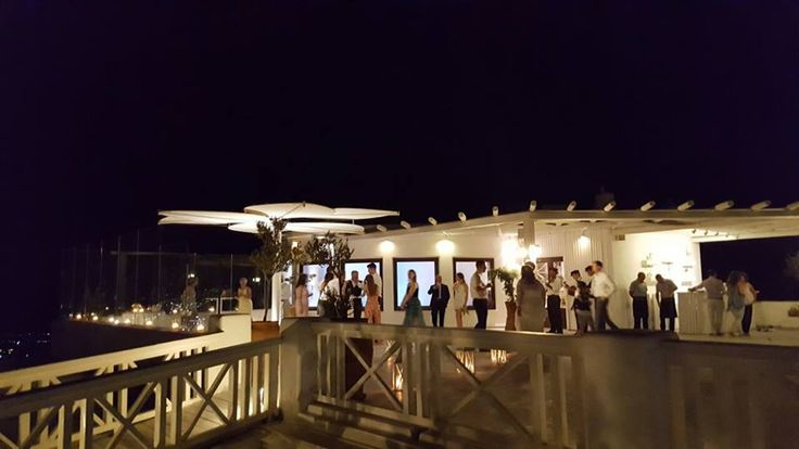 Romantic set up at Panorama Hall #pyrgosrestaurant #santoriniweddings