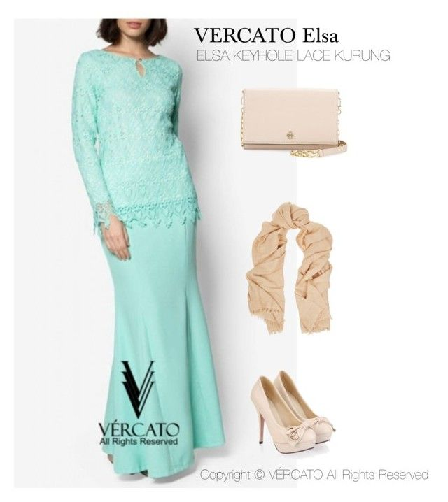 """VERCATO Elsa Baju Kurung Moden"" in mint green,navy blue and also available in salmon. SHOP NOW: http://www.vercato.com/VERCATO-ELSA-KEYHOLE-LACE-BAJU-KURUNG-MINT"