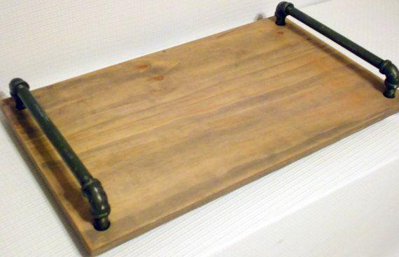 Tray large tray ottoman tray serving tray by KikoLivingGoods, $69.00