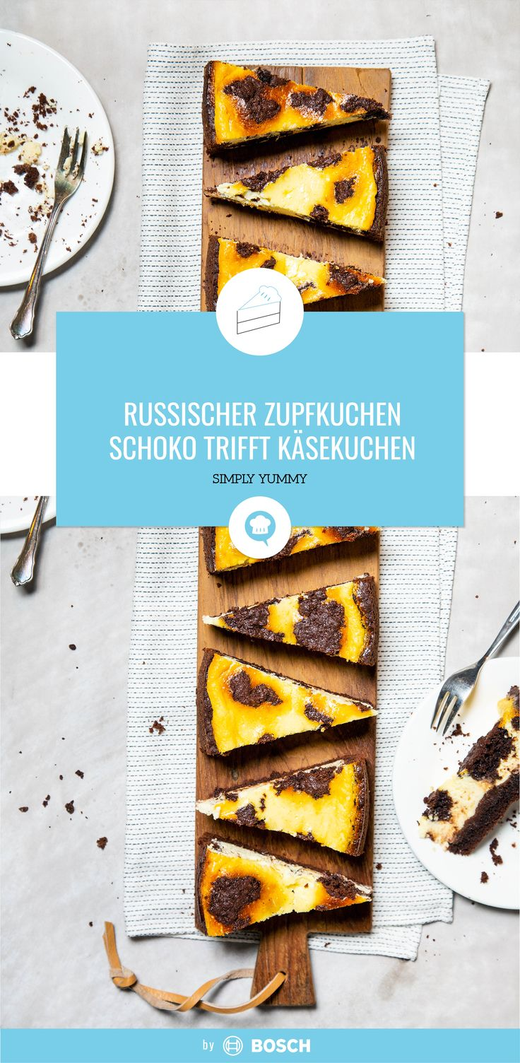 Russischer Zupfkuchen – Schoko trifft Käsekuchen