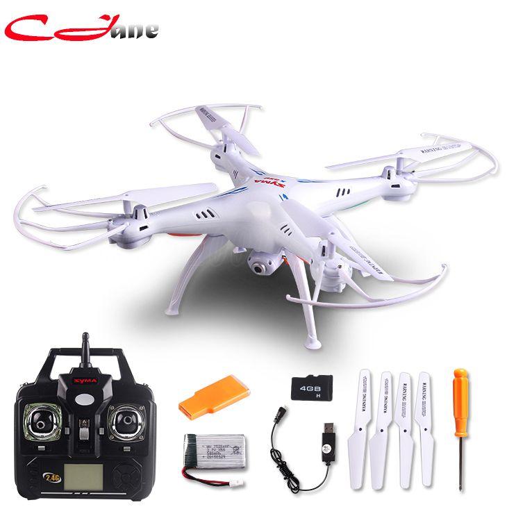 Gratis pengiriman 100% otentik baru X5SC RC Drone Syma 2.4G 6 Axis GYRO RC Quadcopter RTF RC com HD 2MP kamera Syma X5C atualizado