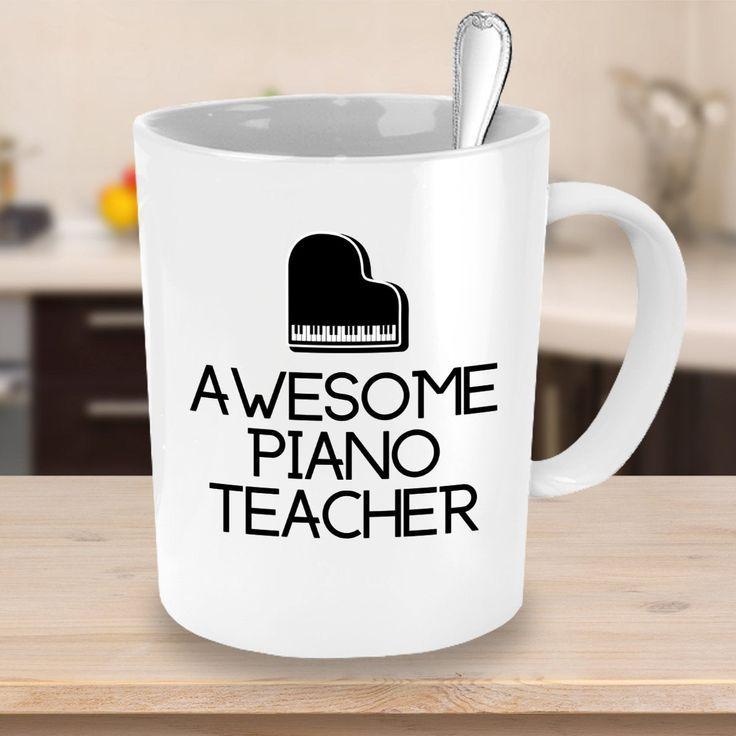 Awesome piano teacher coffee mug teacher gift ideas etsy
